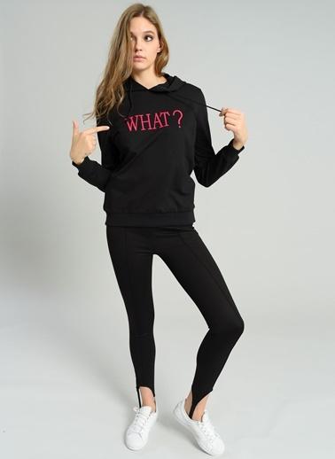 Kapüşonlu Nakışkı Sweatshirt-Agenda